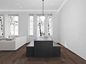 визуализация гостиной в стиле минимализм