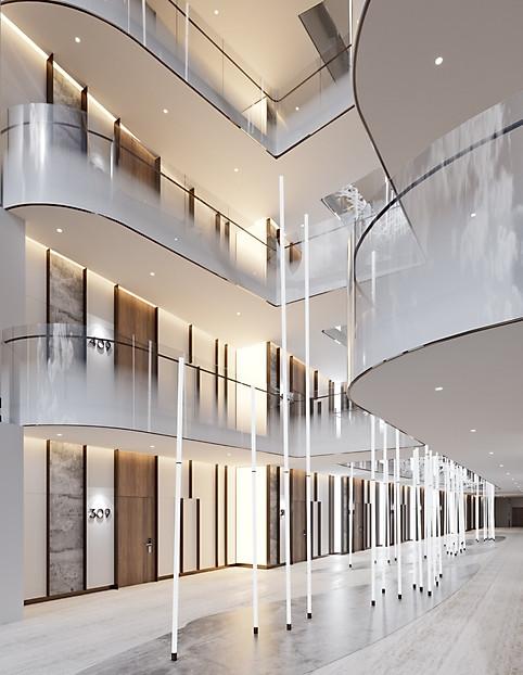 3d визуализация гостиницы Radisson