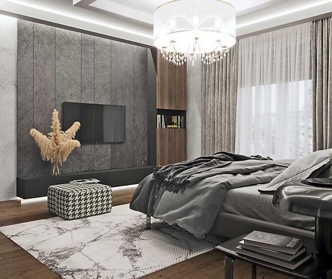 ракурс визуализации спальни