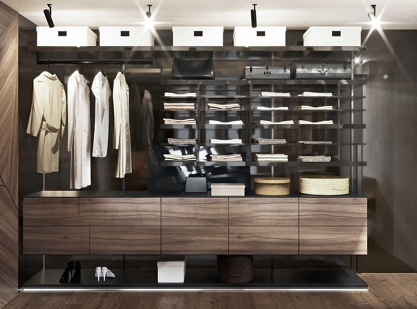 красивая гардеробная комната 3д