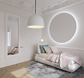 визуализация комнаты девочки