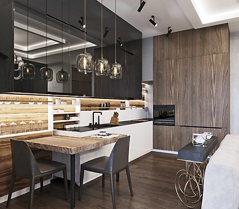 3д дизайн интерьера кухня