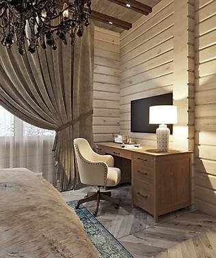 дизайн рабочего стола в спальне