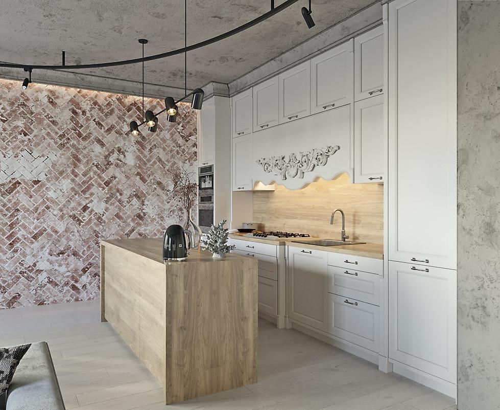 визуализация интерьера кухня