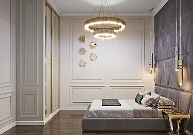3d визуализация спальни гостевой