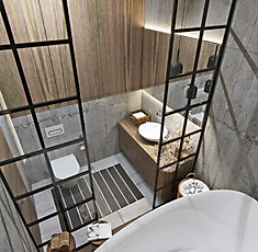 3д визуализация ванной комнаты
