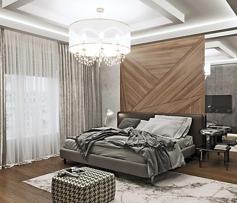 фотореалистичная визуализация спальни