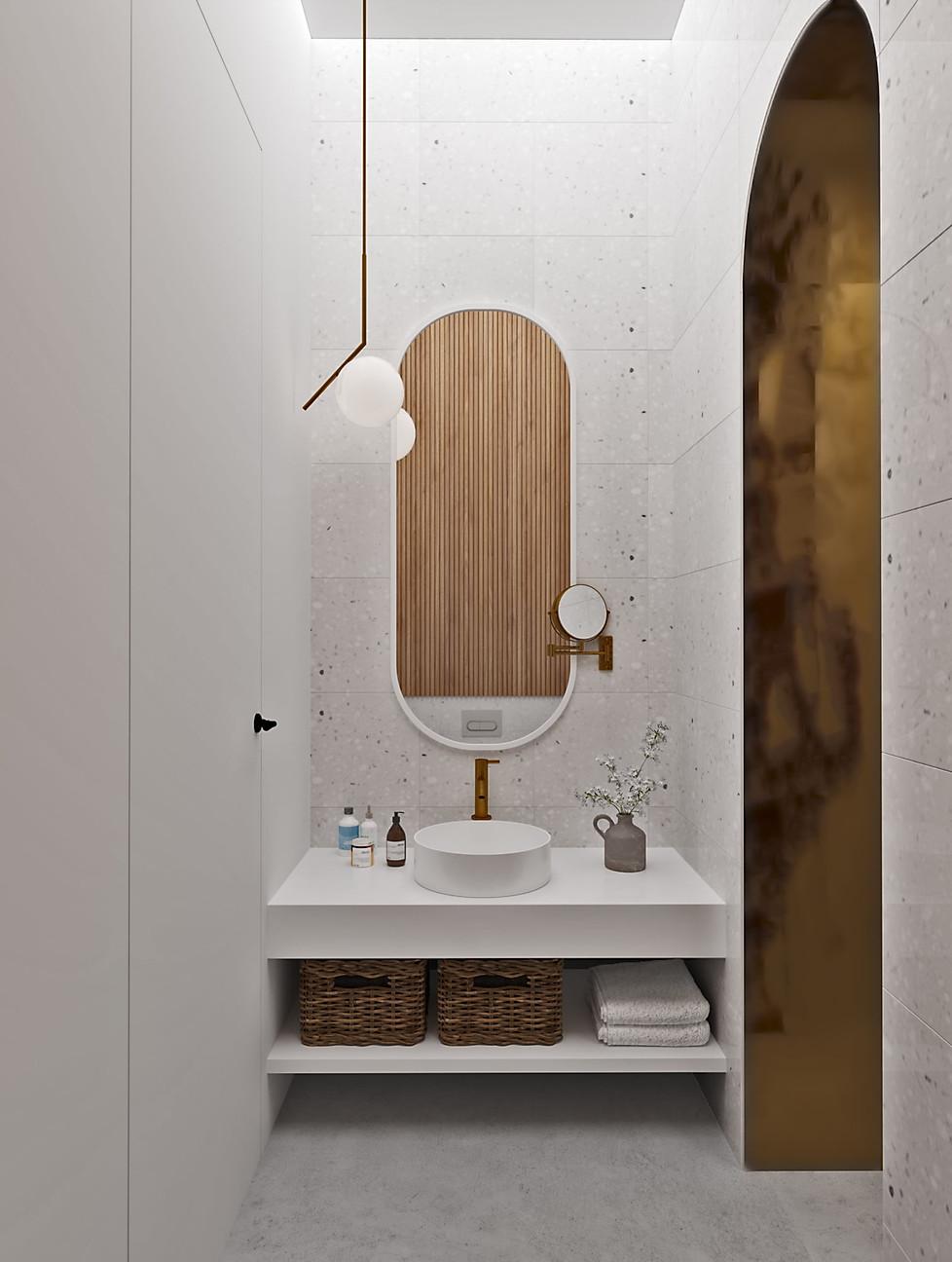 3д визуализация туалета