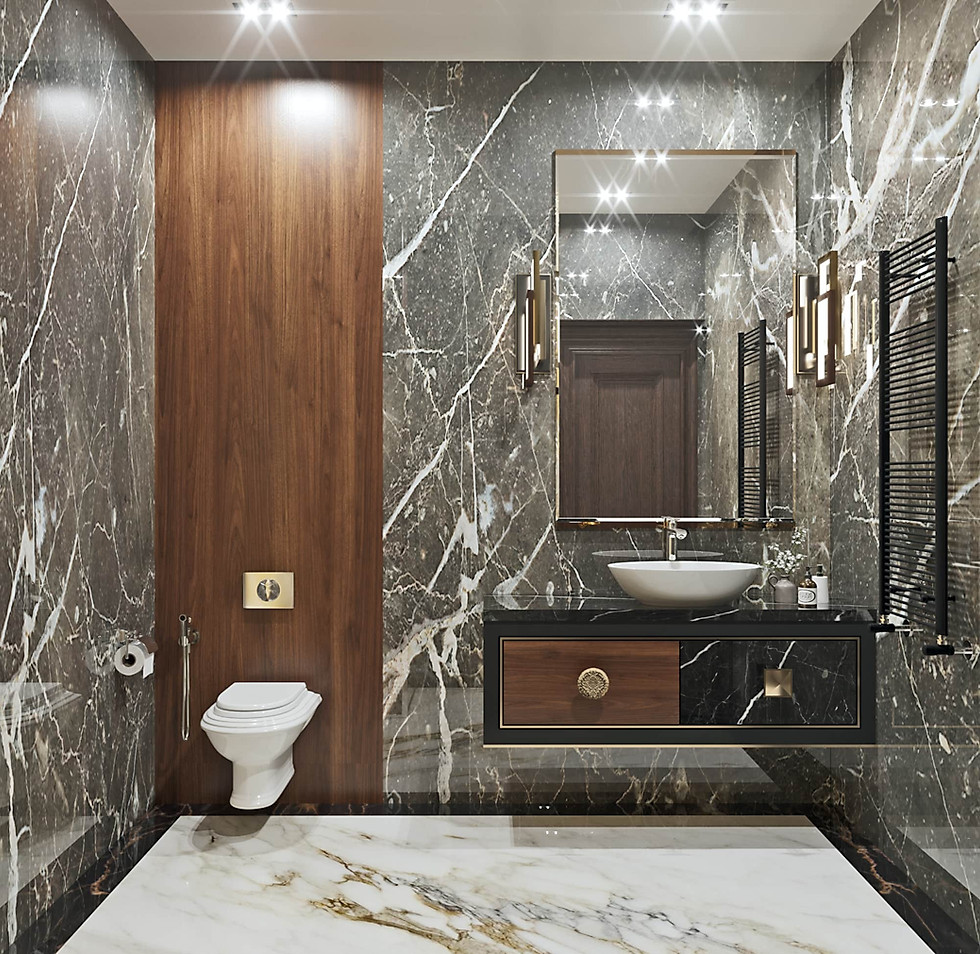 визуализация туалетной комнаты