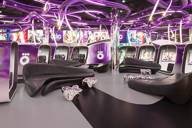 визуализация lounge зоны в кинотеатре