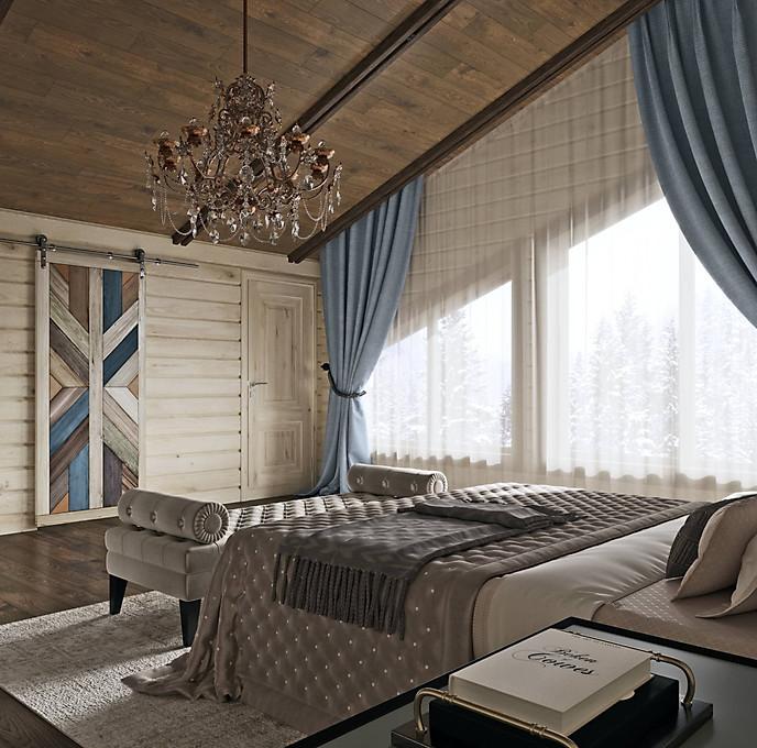 визуализация мастер спальни