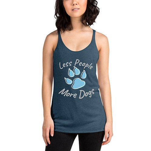 Less People More Dogs Racerback Tank