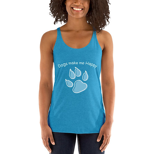 make me happy Women's Racerback Tank