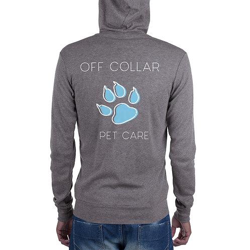 Men's Off Collar zip hoodie