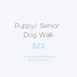 Puppy/ Senior Dog Walk