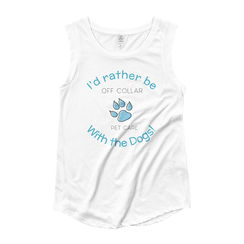 Rather be with the Dogs Ladies' Cap Sleeve T-Shirt