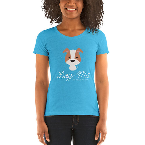 Ladies' short sleeve Dog-ma t-shirt (White lettering)
