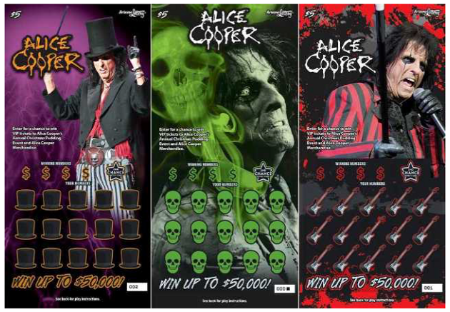 ALICE COOPER to be featured on Arizona scratch off lottery