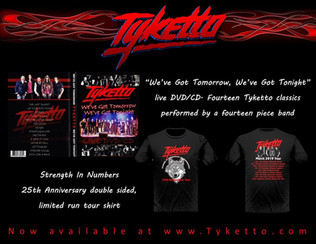 TYKETTO releases 'We've Got Tomorrow, We've Got Tonight' DVD/CD
