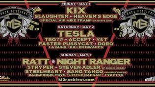Kix, Tesla, Slaughter, Accept, Ratt, Stryper Confirmed For 2020 Edition Of M3 ROCK FESTIVAL