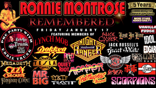 Ronnie Montrose Remembered: A NAMM 2020 All-Star 5 Year Commemorative Anniversary Concert Announced