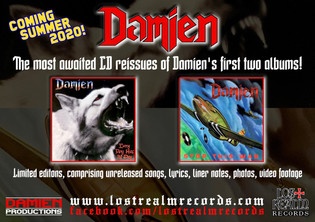 DAMIEN reissues first two albums 'Every Dog Has Its Day' and 'Stop This War'