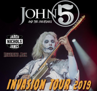 JOHN 5 AND THE CREATURES Announce Fall 2019 U.S. Leg Of 'Invasion Tour'