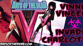 VINNIE VINCENT to appear at DAY OF THE DEAD May 18-20th Charlotte,NC