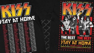 KISS is now offering a Stay At Home T-shirt,100% profit being donated to the Global Relief Fund for
