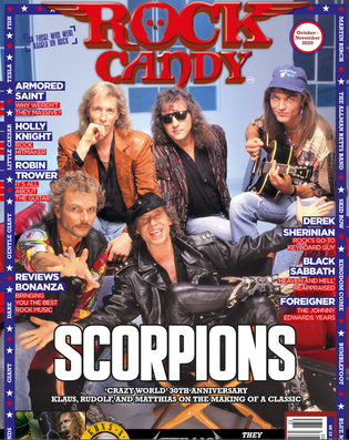 """ROCK CANDY MAGAZINE Features Scorpions """"Crazy World"""" 30TH Anniversary Cover Story"""