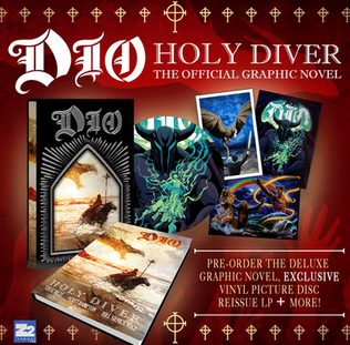 The Dio Estate and Z2 Comics have teamed up to bring you Dio - Holy Diver, the graphic novel