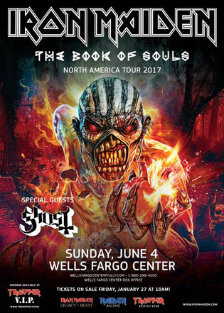 Iron Maiden (Sunday, June 4) at Wells Fargo Center in Philadelphia, Pennsylvania