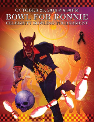 The Fourth Annual Bowl For Ronnie Celebrity Bowling Party,  will take place on Thursday, October 25t