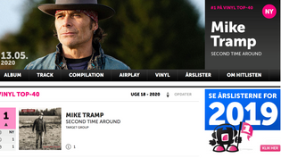 Mike Tramp storms into first place on the Danish vinyl hit list