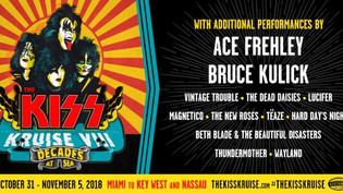 ACE FREHLEY and BRUCE KULICK rejoin KISS onstage during Kiss Kruise