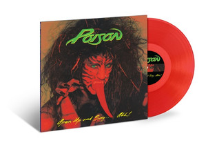 POISON issue 30th-Anniversary Red and Green Vinyl Of 'Open Up And Say… Ahh!'