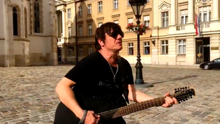 "STEELHEART singer acoustic jam in Zagreb Croatia at ""St. Marks Square"""