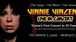 VINNIE VINCENT to perform live for the first time in 30 years