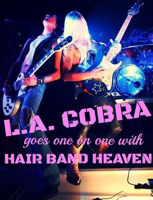 "L.A.Cobra talks new album ""Shotgun Slinger"" with Hair Band Heaven"