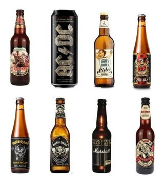 Icon Sampler Rock Box - 8 Pack Beer & Cider ( Slayer, Motorhead, Iron Maiden,Ac/dc)
