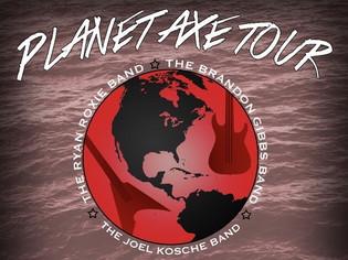Planet Axe Tour to feature Ryan Roxie, Brandon Gibbs, and Joel Kosche