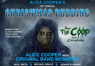 ALICE COOPER'S 18TH Annual Christmas Pudding Show feat. Nuno, Rob Halford, Johnny Depp. and more