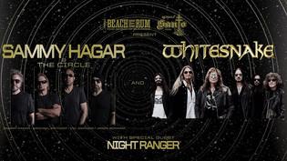 WHITESNAKE, SAMMY HAGAR & THE CIRCLE  & NIGHT RANGER Announces U.S. Tour