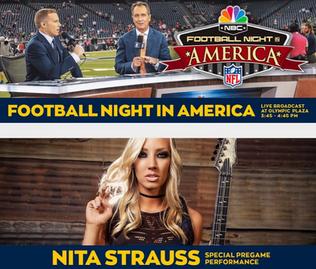 NITA STRAUSS To Kick Off Sunday Night Football