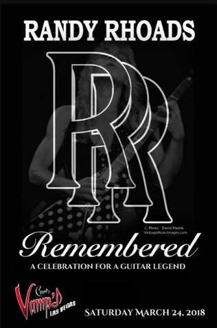 Randy Rhoads Remembered; Las Vegas March 24th at Count's Vamp'd