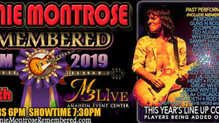 Ronnie Montrose Remembered 2019 to feat. members of Dokken, Whitesnake, Ozzy, Tesla, Great White, Sc