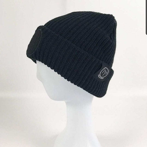 Black Base Patch Beanie