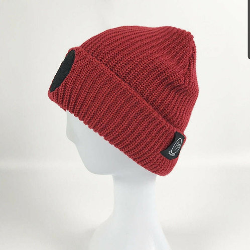 Ruby Red Base Patch Beanie