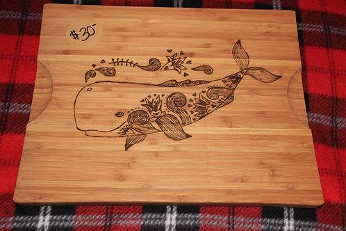 Whale Cutting Board