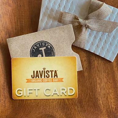 Javista Gift Card